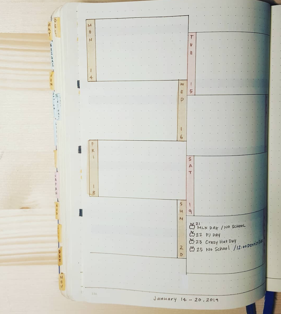 Weekly Layouts You Can Use for Your Bullet Journal