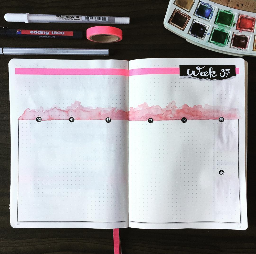 Use Watercolor in Your Bujo