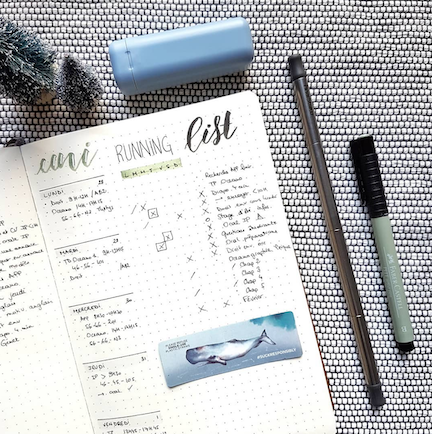 Bullet Journal Log to Improve Your Running