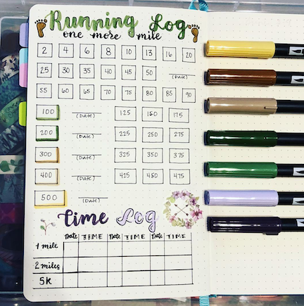 Run more with a running log in your bullet journal
