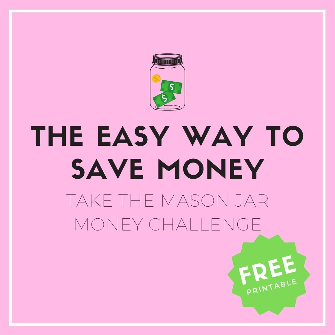 Mason Jar Savings Challenge The Easy Way To Save Money Sweet Planit
