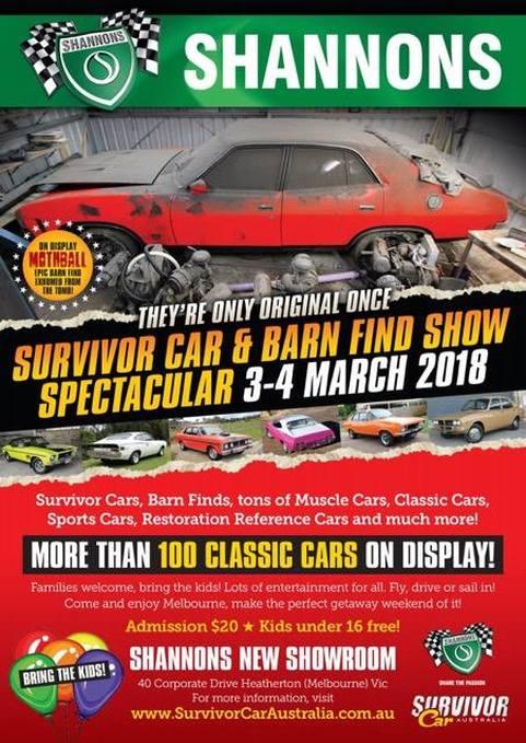 Survivor Car Barn Find Show Spectacular AOMC