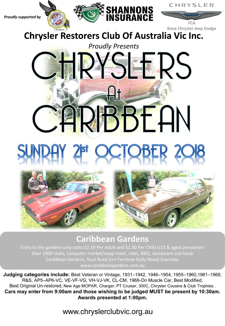 Chryslers At Caribbean Display Day St October AOMC - Car show management software