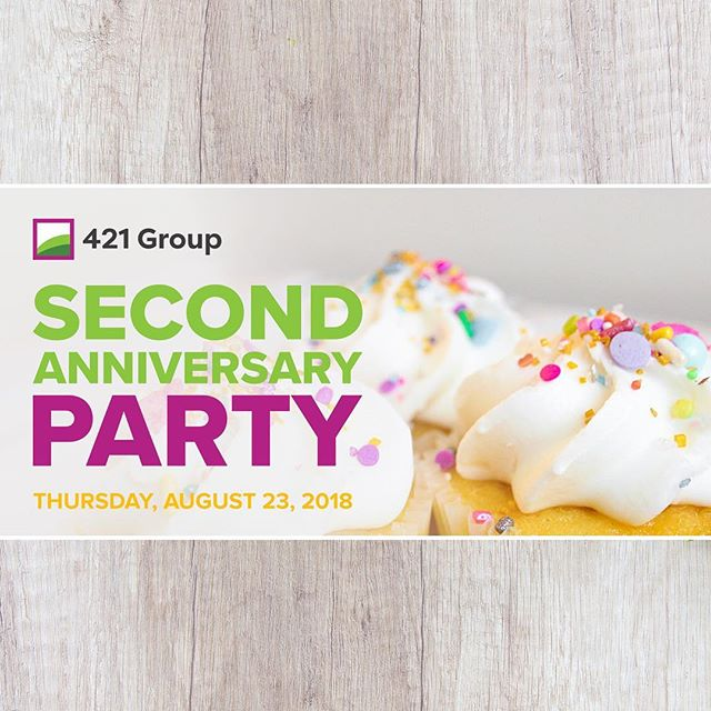 @421.group is having a #birthday! 🎈🎂🍰 We're throwing a little #anniversary #party to #celebrate two exciting years of helping businesses be the #nextbigthing in #cannabis. 🌿🤝 Check out our Facebook page to #RSVP and get all the #event details! 🎂🌿 #cannabiscommunity #theysayitsyourbirthday #cannabiz #sonomacounty #consulting