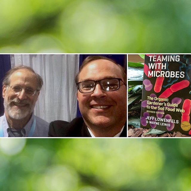 "Our principal + president Craig Litwin got to meet ""Teaming with Microbes"" author @gardenerjeff at @cwcbexpo #Boston. 🌱🙏🌿 Craig: ""From Alaska, Lowenfels has developed an incredible app that reads #soil health via #microbiological analysis. Grow soil to grow great plants! Also a speaker at @theemeraldcup in Santa Rosa, CA, Lowenfels' passion for #ecology shines through!"" 🌿 #cannabusiness #cannabiz #cannabismeansbusiness #cwcb #cwcbexpoboston #cwcbexpo #nextbigthing"