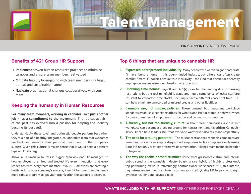 HR Support  Service Overview –  click to view PDF