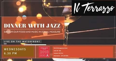 Jazz on the waterfront every week. Booking advisable.