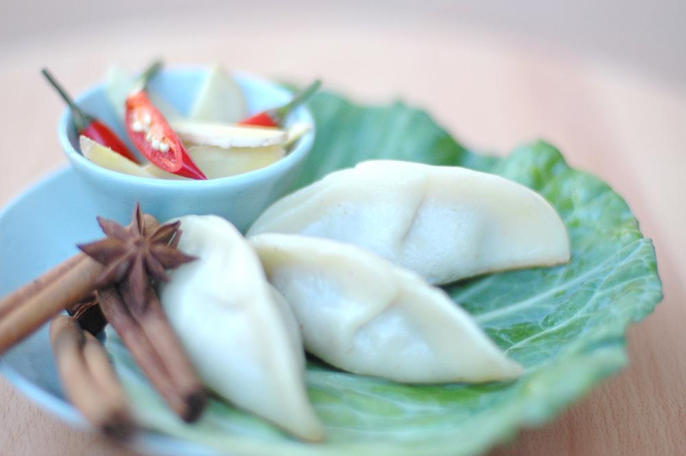spiced ginger beef dumplings