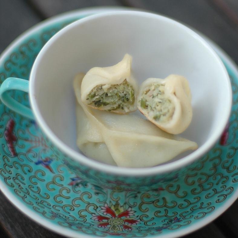 chicken and lemongrass dumpling