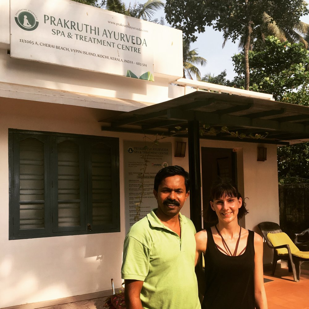 Jojo & Jennie at Prakruthi Ayurveda Centre