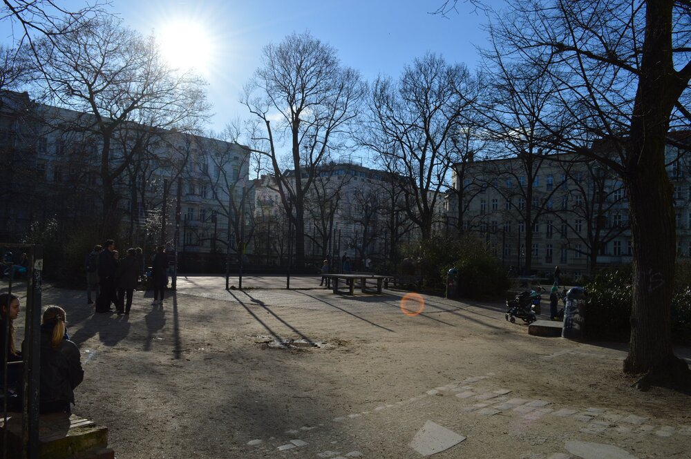 The neighborhood of the coliving space in Prenzlauer Berg