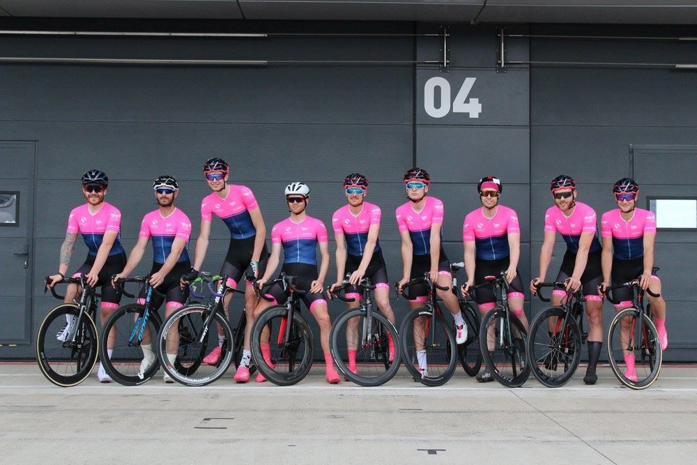 9 man team made up of Spokes BPC sponsored riders and development team.