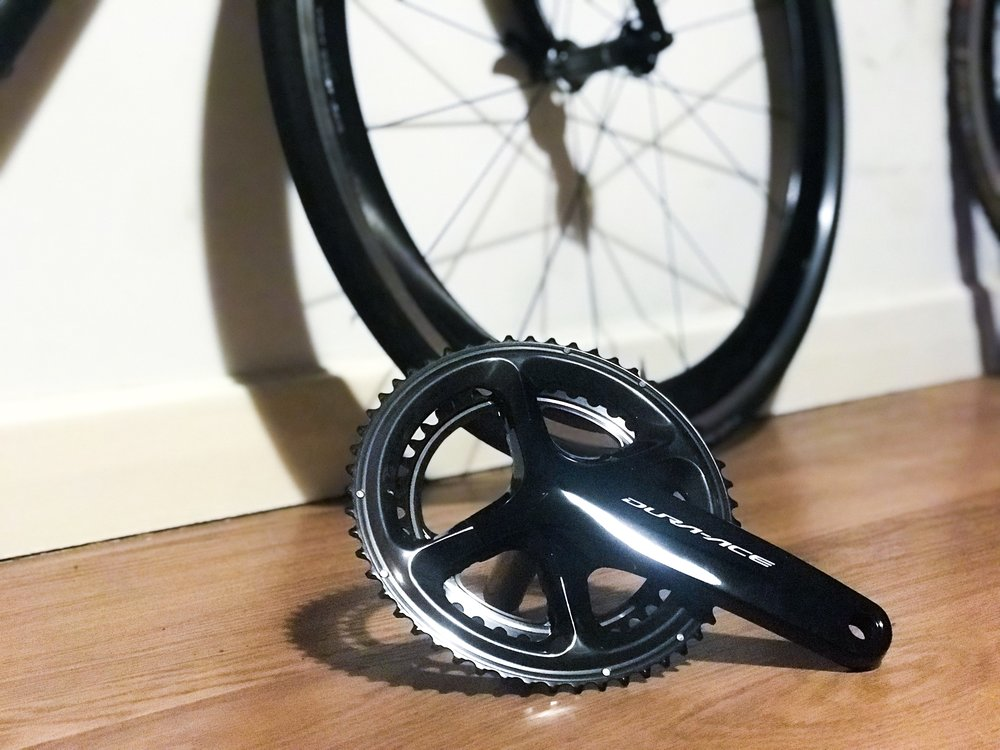 The new Shimano Dura Ace 9100 crankset.