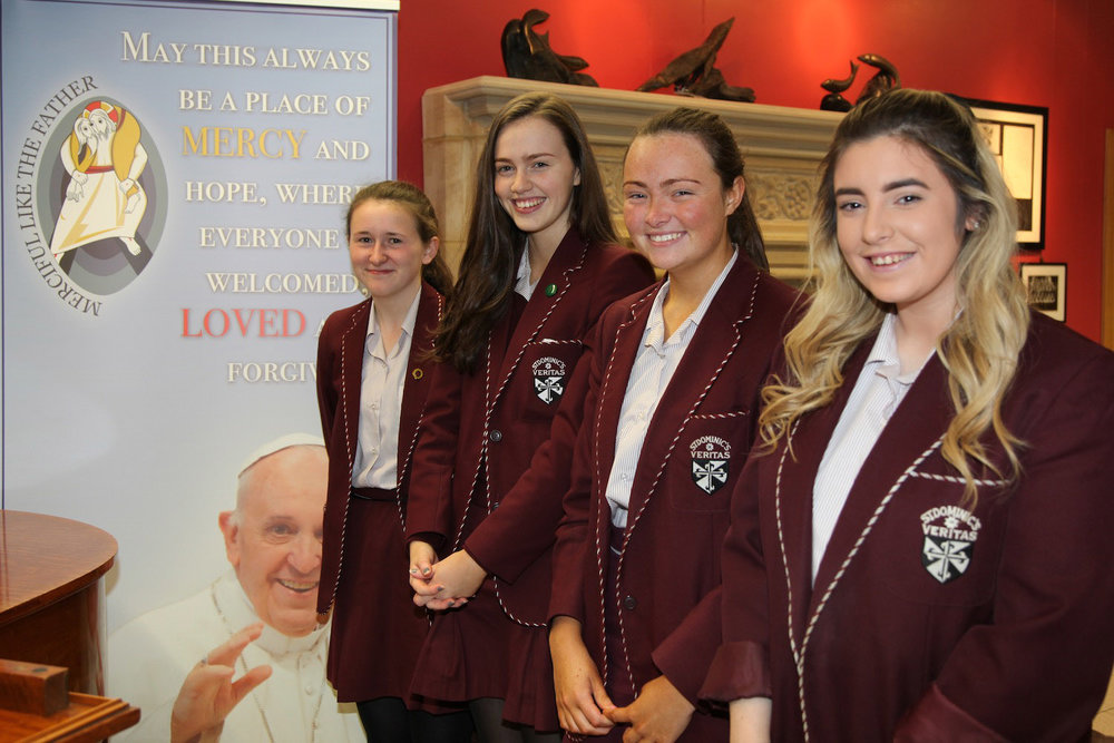 Girls taking part in the Pope John Paul II Award in 2016