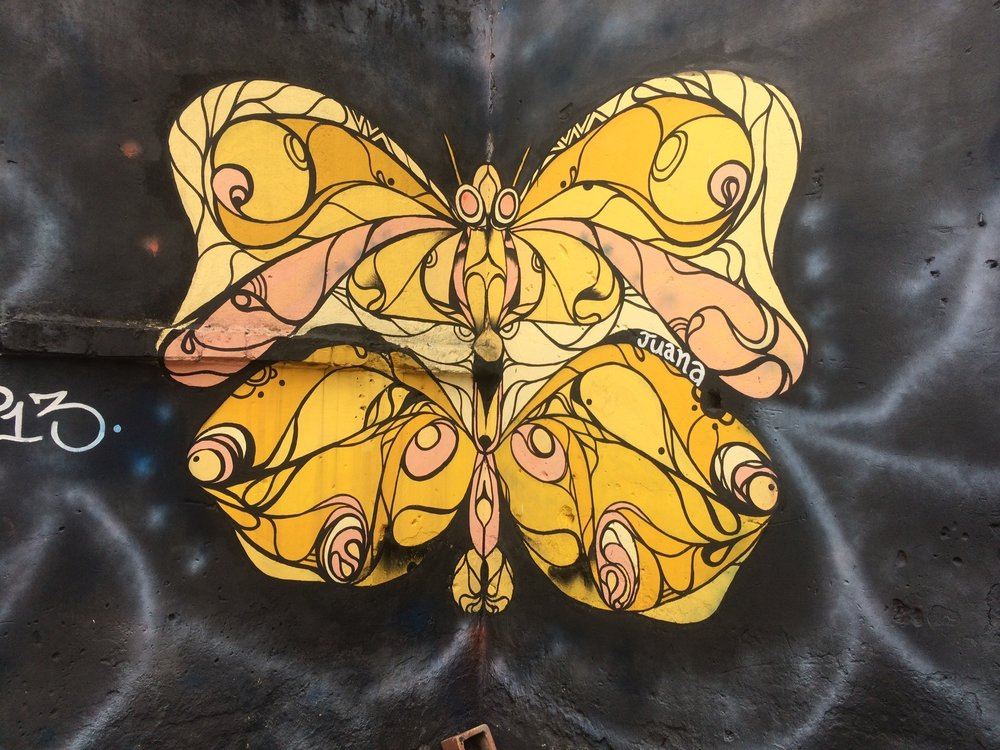 Copy of Schmetterling an der Wand