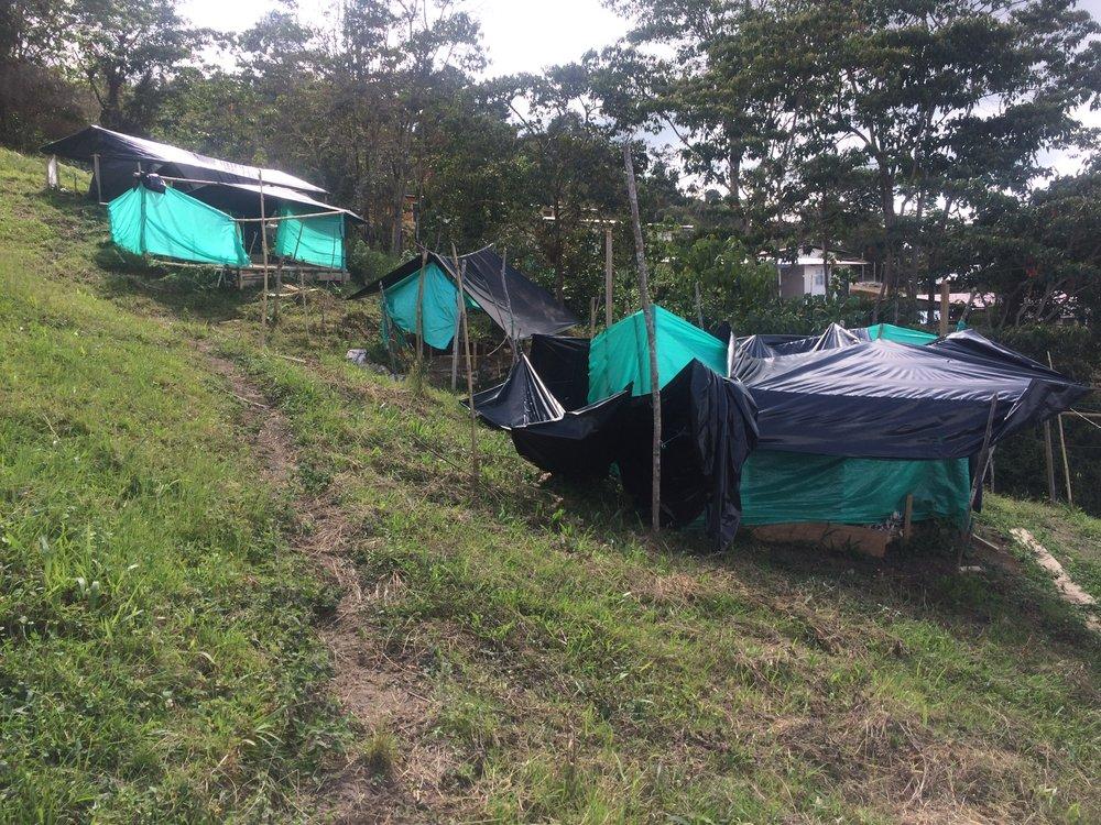 Unterkünfte der FARC während dem Krieg