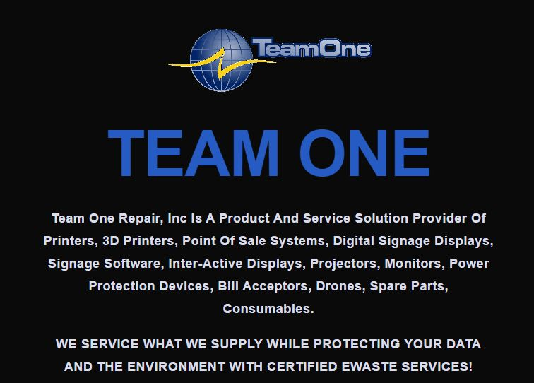 The Team One Corporate Website -