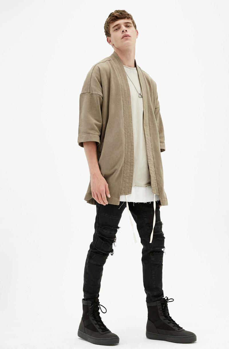 Plush kimono , £29.99  Super skinny stonewashed jeans , £25.99