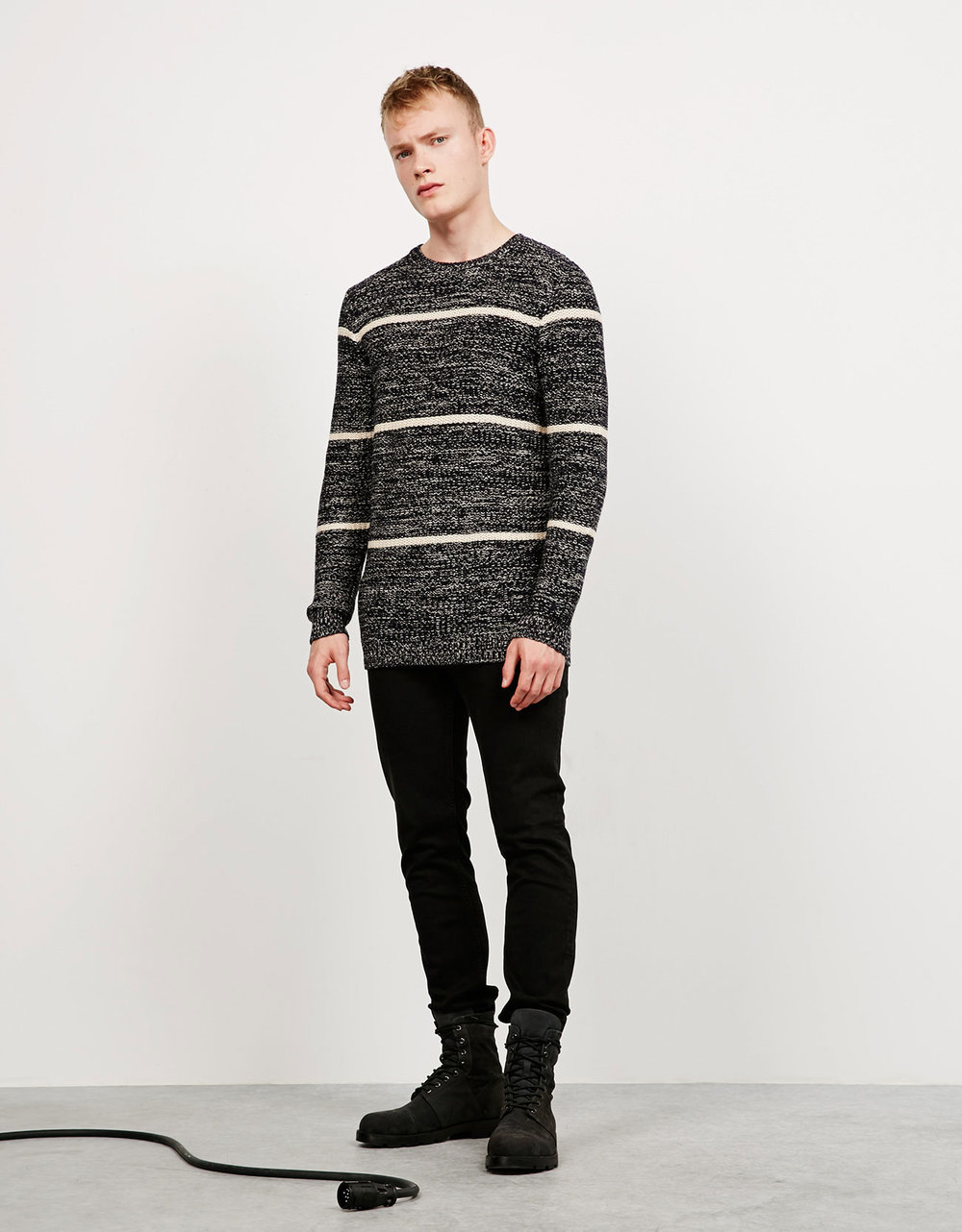 Flecked striped jumper, £22.99