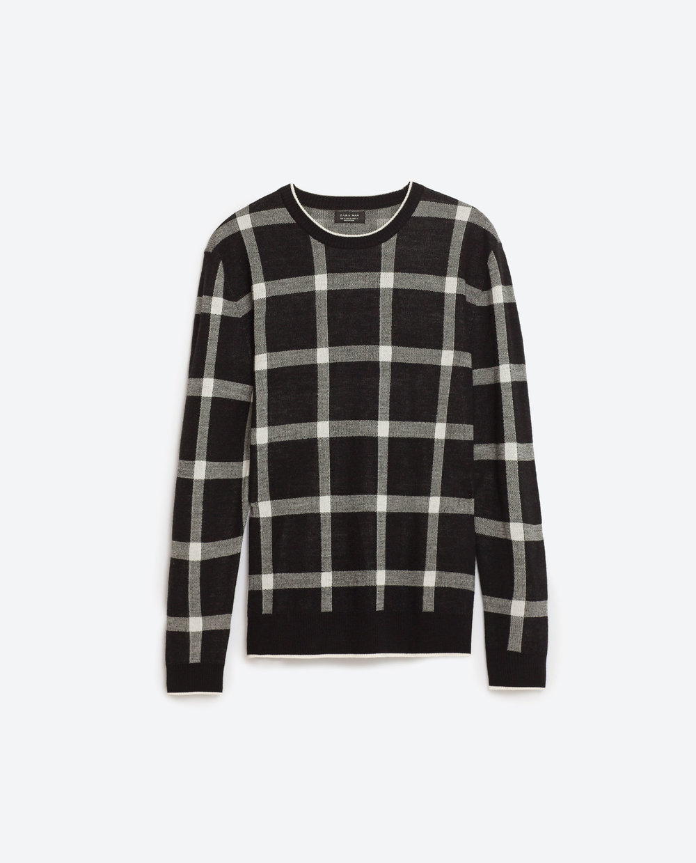 Check sweater, £29.99 ( zara.com )