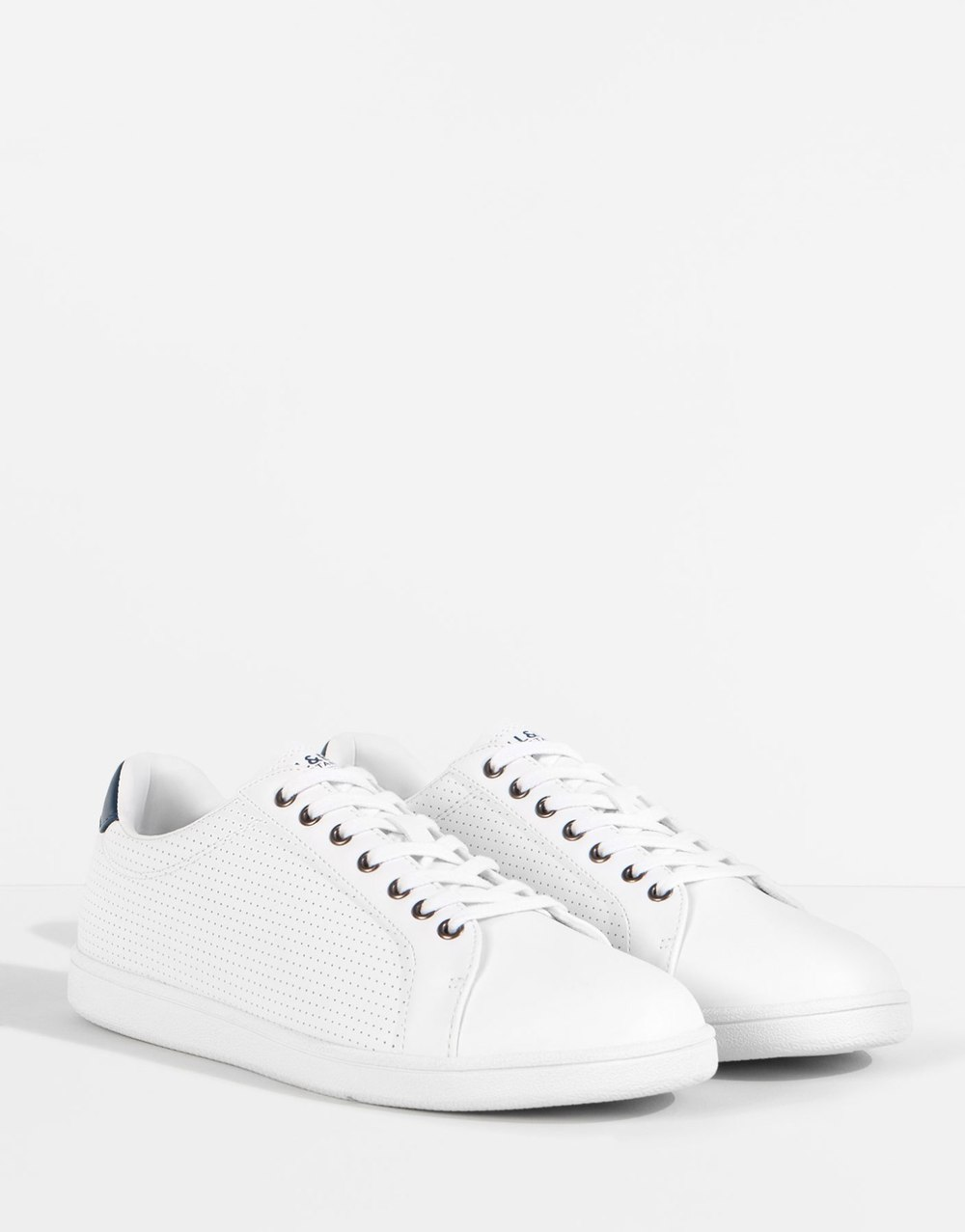 Punched formalwear plimsolls, £29.99 ( pullandbear.com )