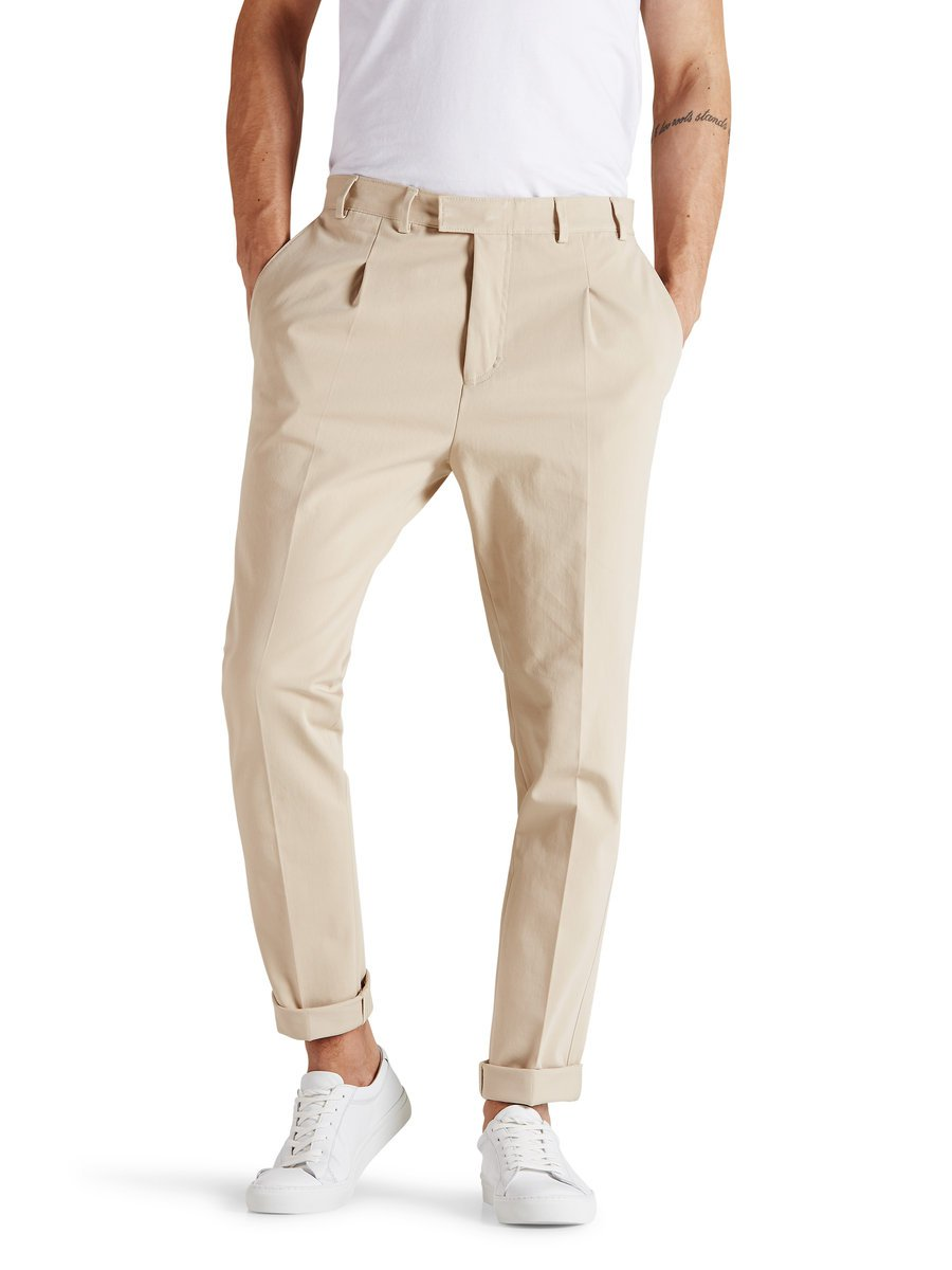 Khaki tailored trousers, £60 ( jackjones.com )