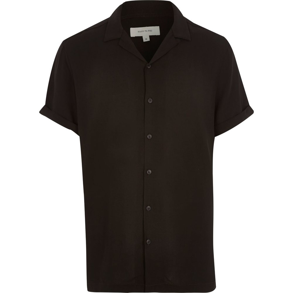 Revere-collar short-sleeve shirt, £25 ( riverisland.com )