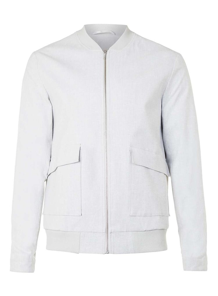 Lightweight tailored bomber jacket, £65 ( topman.com )