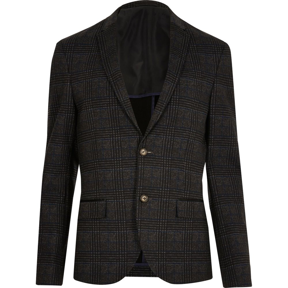 Checked skinny cropped blazer, £60 ( riverisland.com )