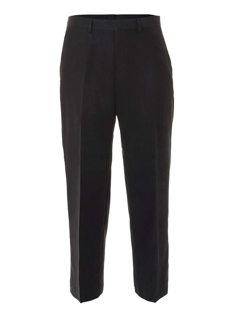 Street Tailor black twill wide leg cropped trousers, £40 ( topman.com )
