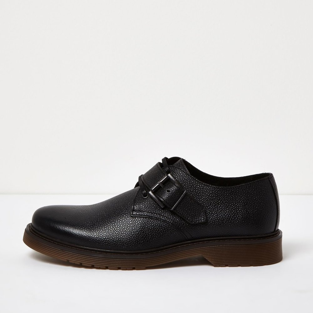 Leather monkstrap shoes, £55 ( riverisland.com )
