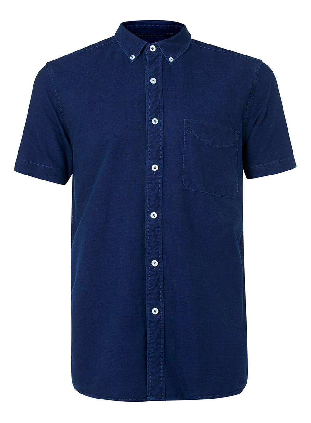 Denim short-sleeve casual shirt, £20 (topman.com)