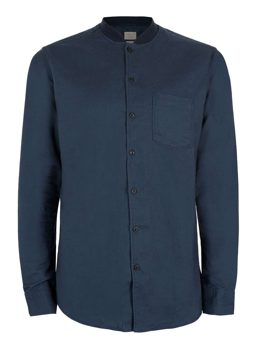 SELECTED HOMME ribbed collar cotton shirt, £45 (topman.com)