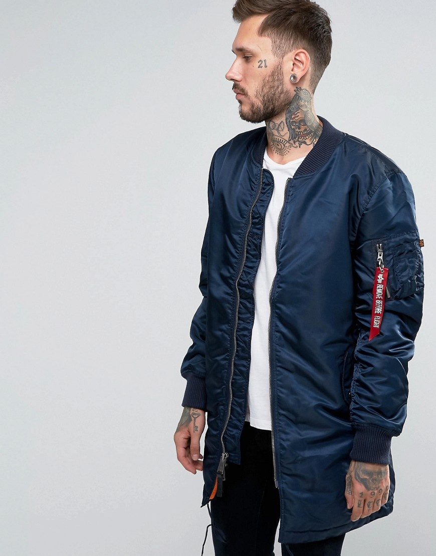 ALPHA INDUSTRIES MA-1 slim-fit long bomber jacket, £110 (ASOS.com)