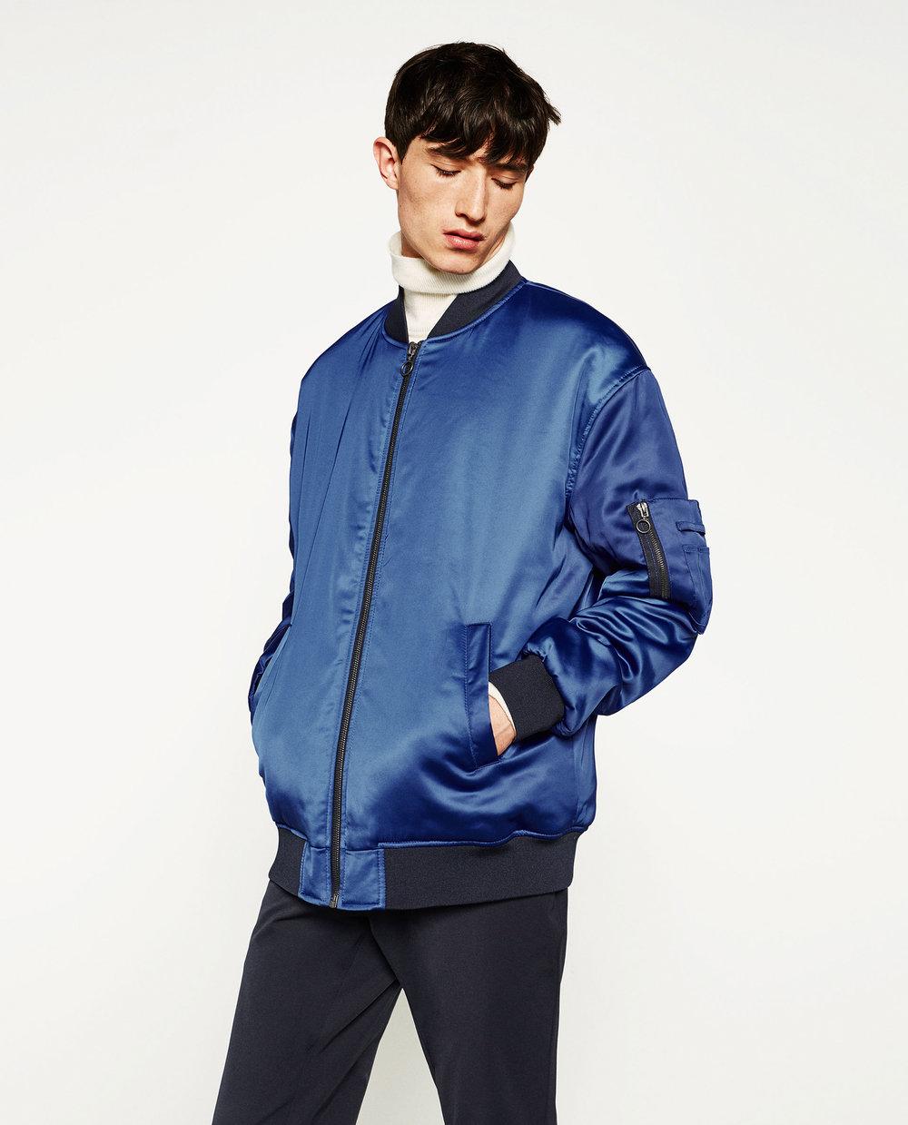Oversized bomber jacket, £69.99 (zara.com)