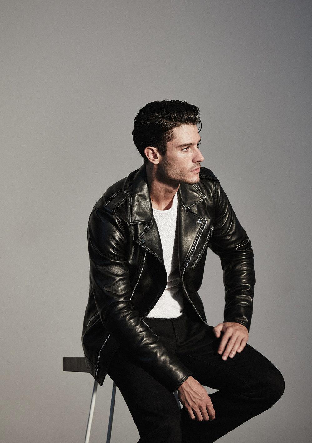 Honne stud leather biker jacket , £595