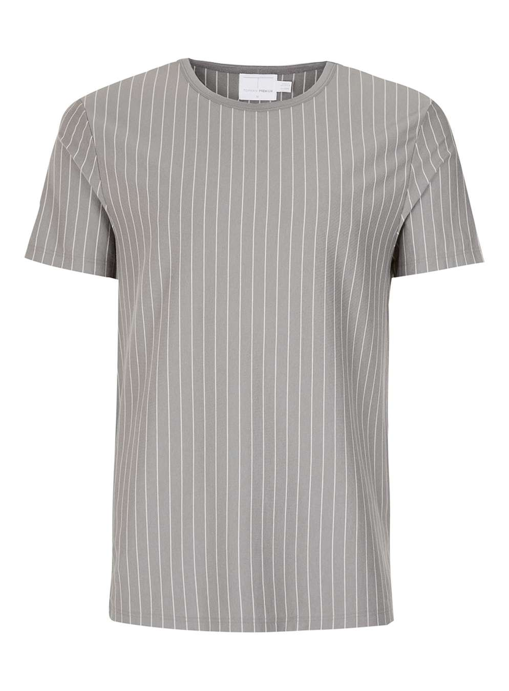 TOPMAN PREMIUM Grey Stripe T-Shirt, £25