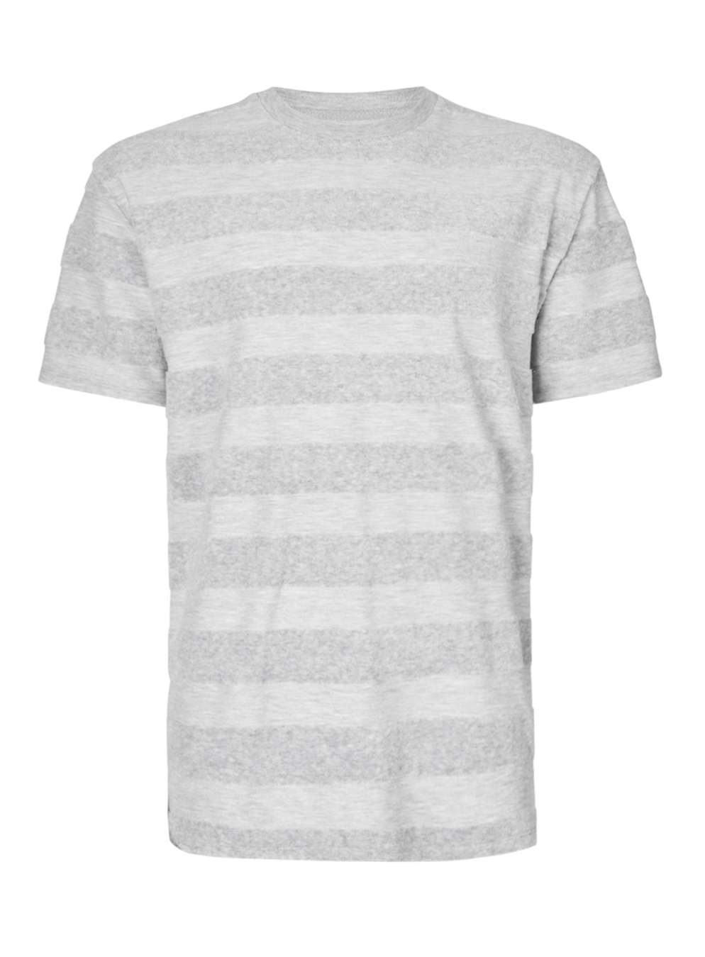 TOPMAN LTD Grey Stripe Towelling T-Shirt, £25
