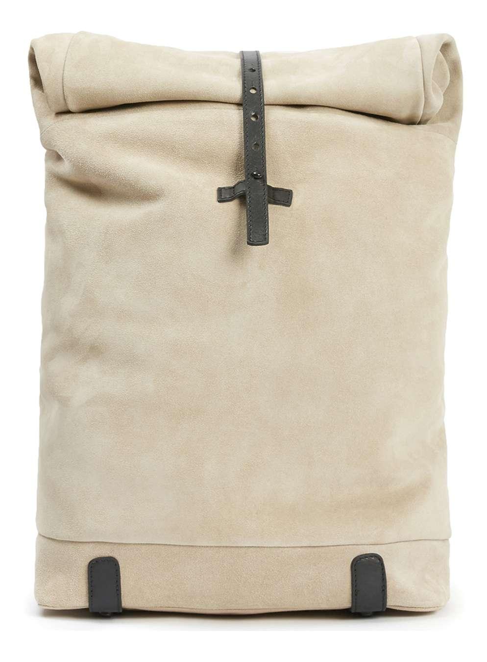 TOPMAN PREMIUM Stone Suede Backpack , £80