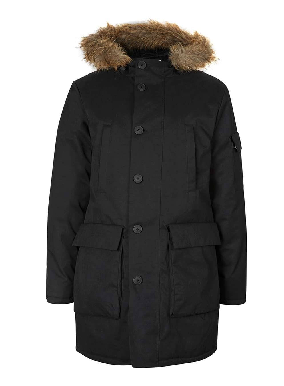 TOPMAN LTD Black Premium Duck Down Parka, £125