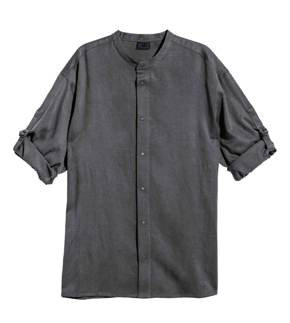 Shirt in a lyocell and cotton blend, £29.99 (hm.com)