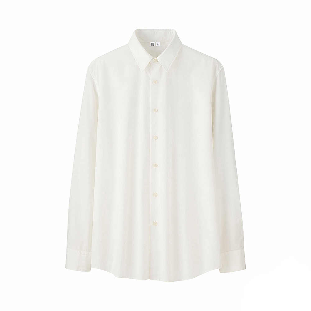UNIQLO U extra fine cotton broadcloth shirt, £29.90 (uniqlo.com)