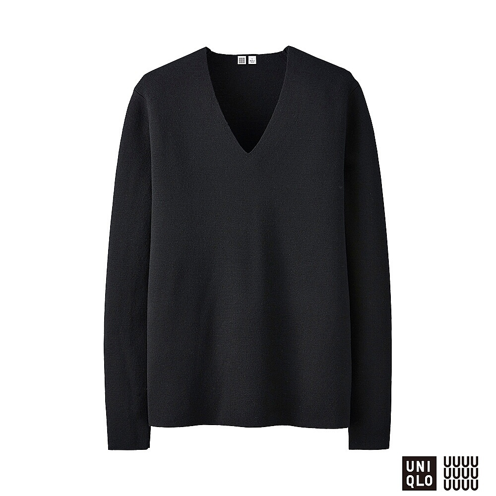UNIQLO U Milano ribbed v-neck sweater, £39.90 (uniqlo.com)
