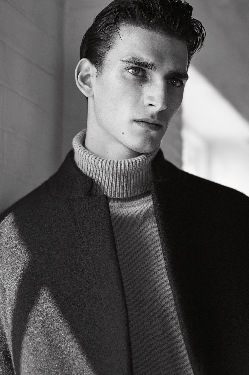 Ombré coat , £159  Lambswool sweater , £29.99