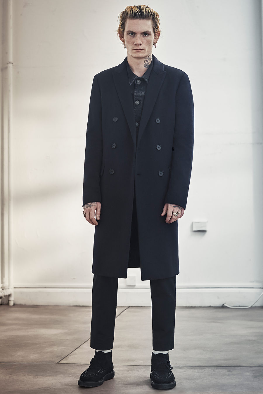 Storr denim jacket , £108   Pico trouser , £128  Bower Boot  , £158
