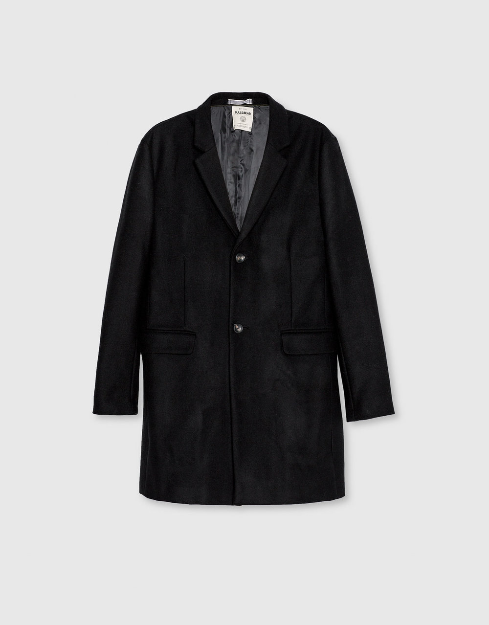 Basic wool coat, £69.99 ( pullandbear.com )