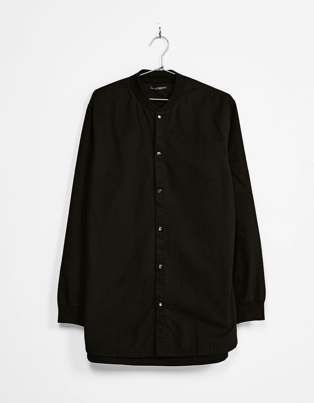 Bomber-style overshirt with cuff details, £22.99 ( bershka.com )