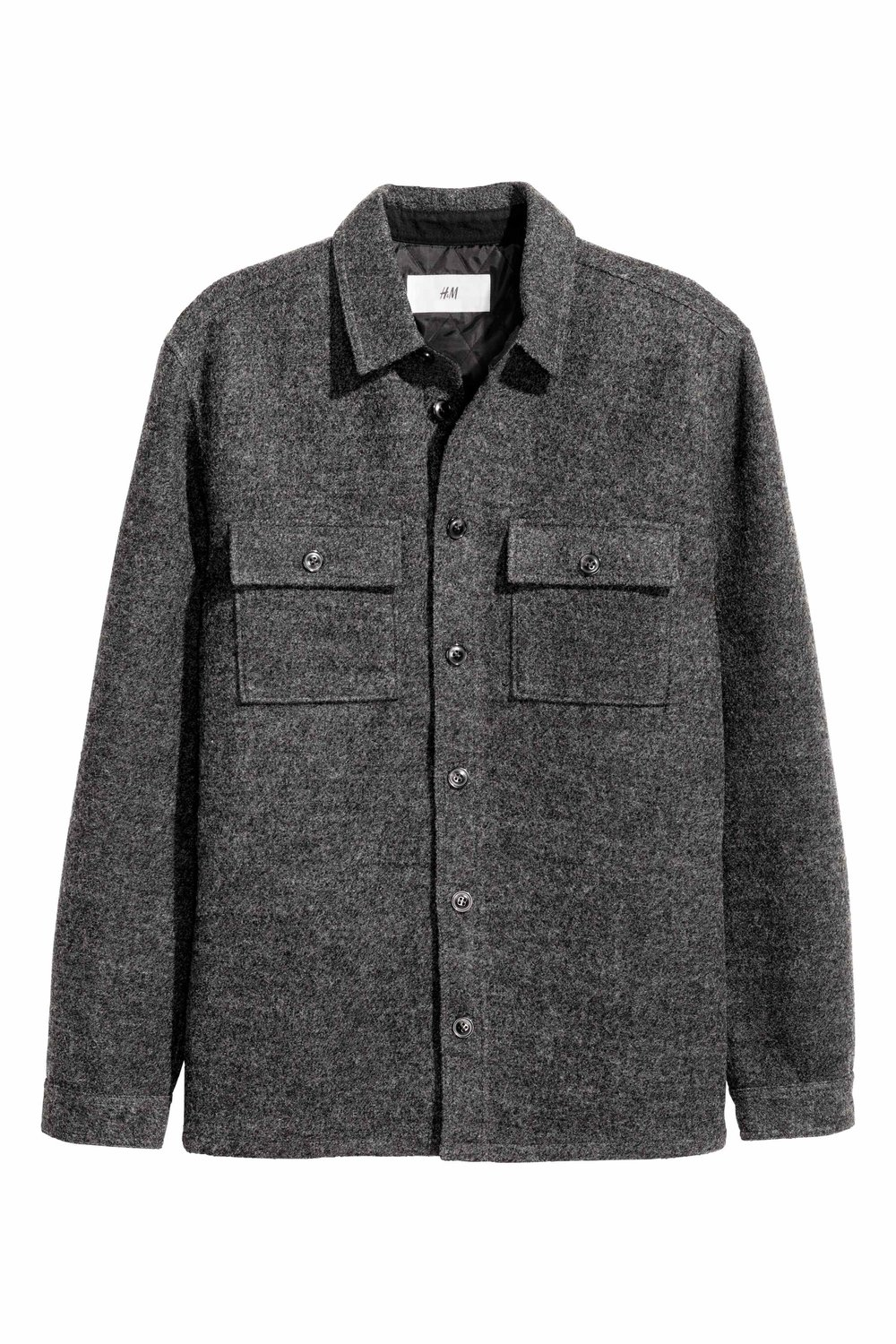 Wool-blend shirt jacket, £29.99 ( hm.com )