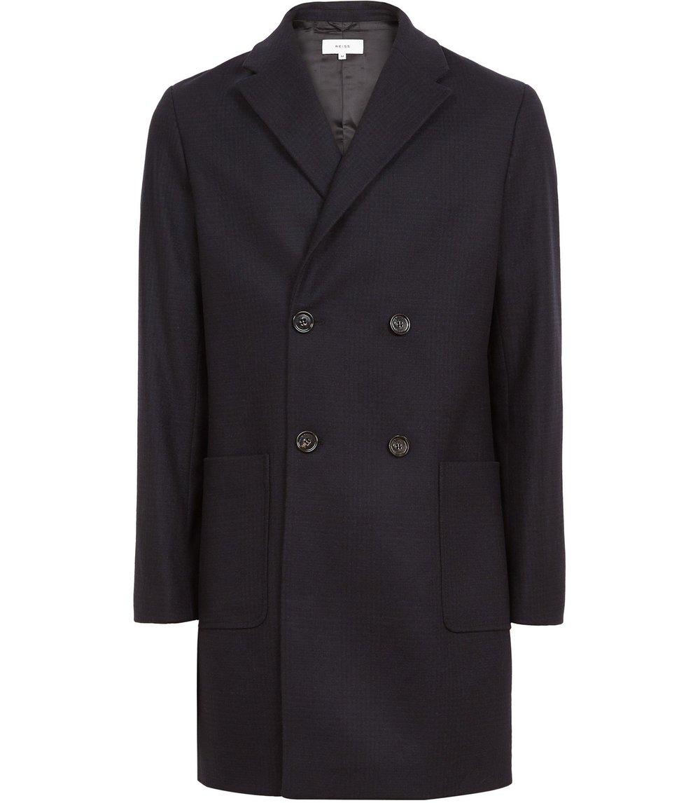 BrandoWool-Blend Check Overcoat, £325 ( Reiss )