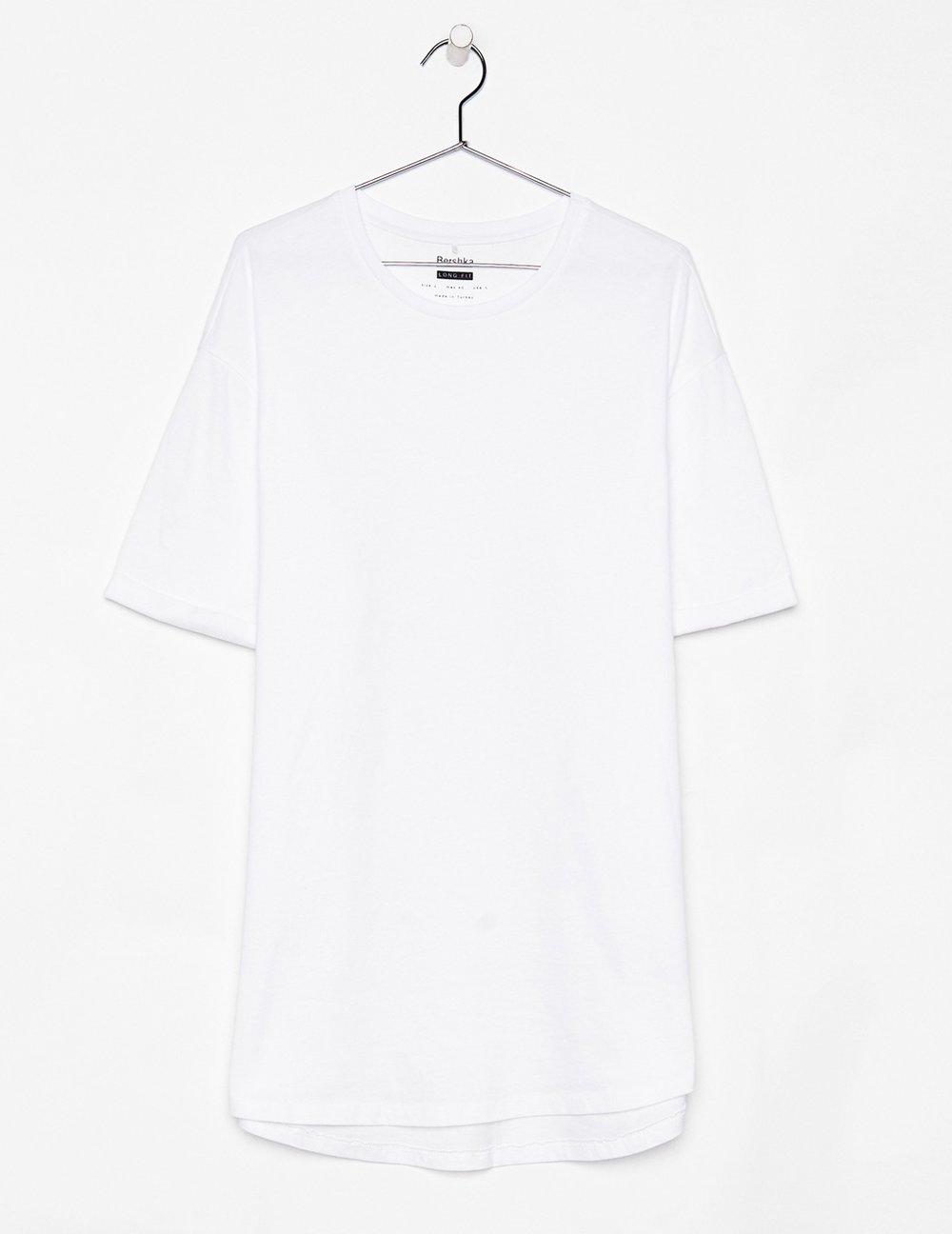 Longer T-shirt, £7.99 ( Bershka )
